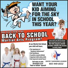 Whitby Taekwondo once a year Back to School special