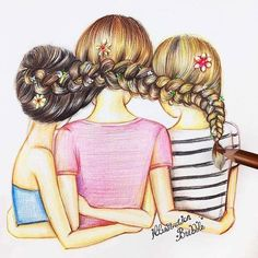 Pin by busy izzy on kawaii anime drawings of friends, bff dr Bff Pics, Friend Pictures, Best Friends Forever, Three Best Friends, 3 Friends, Bff Drawings, Drawings Of Friends, Cute Best Friend Drawings, Best Friend Sketches