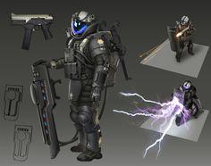 ArtStation - The electric shock shield, Chungwei Yu Armor Concept, Weapon Concept Art, Gundam, Transformers, War Pigs, Combat Armor, Acid Art, Sci Fi Armor, Future Soldier