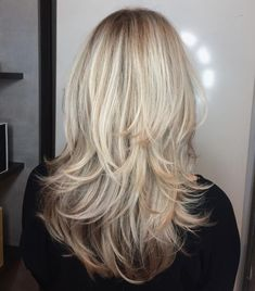 Blonde Textured Cut with Angled Layers