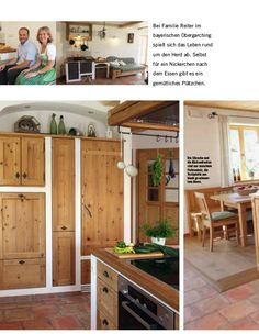Modern Farmhouse Kitchens, Rustic Kitchen, Rustic Farmhouse, Knotty Pine Kitchen, Business Centre, Entryway, Sweet Home, New Homes, Floor Plans