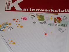Geburtstagskalender gestaltet mit Produkten von Stampin Up. Bestellbar ab 06.01.15 bei mir.