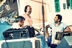 Rosario Bonaccorsi, Paolo Fresu e Daniele di Bonaventura al Percfest14