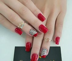 60 fashionable winter nails design make you feel warm page 11 Winter Nails, Summer Nails, Red Nails, Hair And Nails, Cute Nails, Pretty Nails, Nagellack Design, Gel Nail Designs, Nails Design