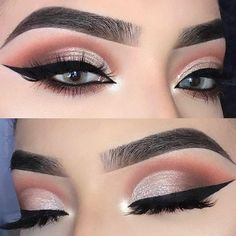 Eyeliner is one of the best type of eye makeup that helps to enhance your eyes and make it look more beautiful. By applying eyeliner you can accentuate your eyes…View Post Cat Eye Makeup, Eye Makeup Tips, Makeup Kit, Eyeshadow Makeup, Makeup Ideas, Cat Eyeliner, Makeup Hacks, Makeup Tutorials, Makeup Brushes
