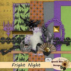 Scrapbooking Blog Train - October 2013, Paris to New York, Fright Night.  Lots of great digital scrapbooking freebies!