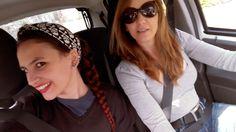 Con Gugu en el coche