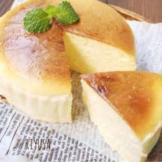 バター&生クリなし❤️一瞬でとろける〜絶品スフレチーズケーキ   riyusa日和。ザッパレシピで褒められおやつと時々おかず