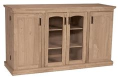 Unfinished Hardwood Entertainment Center/TV Stand