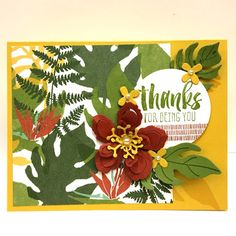 Another bundle from the Spring Occasions Stampin Up Catalog, the Botanical Blooms stamp and Framelits set.
