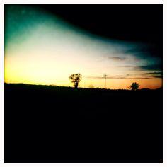Sunset near Parma