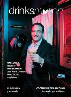 Josep María Gotarda del mítico Ideal Cocktail Bar de Barcelona. Foto de portada para Bar Business en colaboración con Drinksmotion.