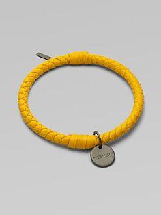 Bottega Veneta Braided Leather Bracelet
