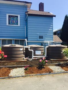 This West Seattle Church Received An Additional 660 Gallon Rain Tank  Installed Under The RainWise Program