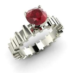 contemporary ruby ring - Google Search