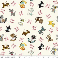 Dog Paws Checks /& Dots Fabric by Fabri-Quilt Inc REDUCED PRICE