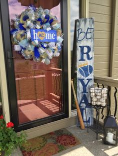 A personal favorite from my Etsy shop https://www.etsy.com/listing/277622972/kansas-city-royals-royals-royals-wreath