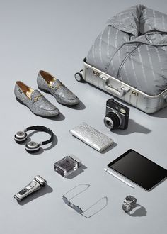 Accessories and Products. David Lineton - Still Life Photographer. Photography Accessories, Clothing Photography, Fashion Photography, Product Photography, Mens Casual Dress Outfits, Versace Bright Crystal, Travel Store, Oxford Blue, Gray