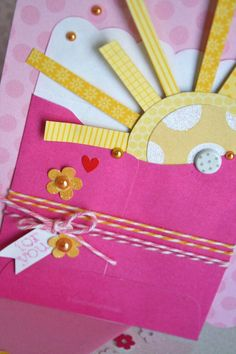 Cute use of twine  #Happy Mail from Sherry and Kathy
