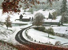 Same place - winter view.  Sleepy Hollow Farm, VT