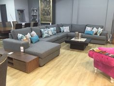 Sala Bilbao Modular, sala escuadra, sala grande pigafurniture.com Sala gris te la fabricó a la medida y color que gustes!! Sala Grande, Bilbao, Lounge, Couch, Furniture, Home Decor, Furniture Design, Living Room, House Interiors