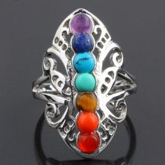 7 Chakra Butterfly Ring