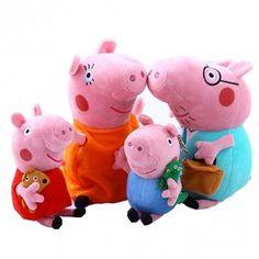 1 Set of Peppa Pig Baby Animal Toys Peppa Pig Plush Family Set Doll DDStore