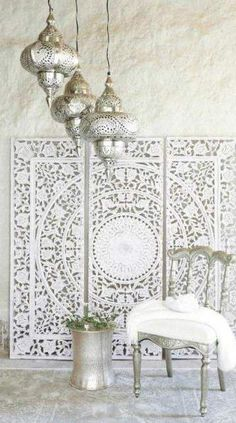 Splendid DIY Moroccan-Style Wall Stencil Tutorial The post DIY Moroccan-Style Wall Stencil Tutorial… appeared first on Etty Hair Saloon . Moroccan Decor Living Room, Morrocan Decor, Moroccan Bathroom, Moroccan Interiors, Living Room Decor, Bedroom Decor, Moroccan Style Bedroom, Girls Bedroom, Living Room Designs