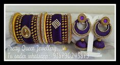 Designer handmade silk thread jewellery.. Colours & sizes can be customized.. Orders undertakenn.. To order whatsapp; +918790245879 For more designs visit my page..  https://m.facebook.com/whatagirlwants66/  Happy shopping with us