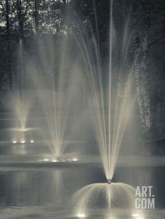 May Park Fountains, Cesis, Gauja National Park, Latvia Photographic Print by Walter Bibikow at Art.com