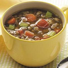 Yummy Lentil Soup from Taste of Home
