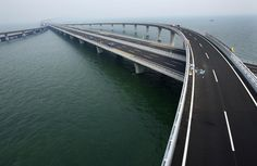 the new longest sea bridge in the world, at ~26 miles.  thanks for holding it down, china.
