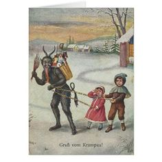 Gruß vom Krampus! (Greetings from Krampus) Vintage Card