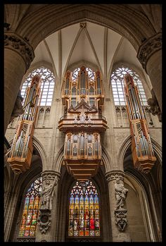 The Cathedral Organ, St. Michael and St. Gudula Cathedral, Brussels, Belgium