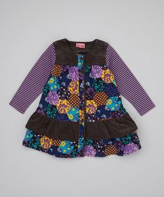 Take a look at this Liatris Annemona Ruffle Dress - Infant, Toddler & Girls on zulily today!