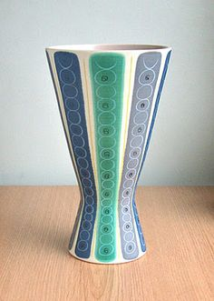 Poole Freeform vase click now to see more. Glass Ceramic, Ceramic Plates, Ceramic Art, Pottery Designs, Pottery Art, Vintage Pottery, Vintage Ceramic, 1950s Home Decor, Vases