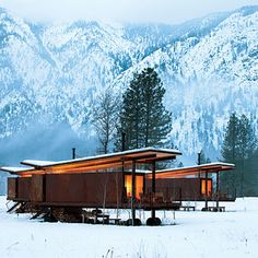 Methow Valley Rolling Huts, Washington.  Can't wait to snowshoe & cross-country here.