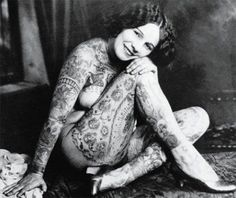 vintage everyday: 39 Gorgeous Vintage Photos of Tattooed Ladies in the Late 19th to Early 20th Centuries