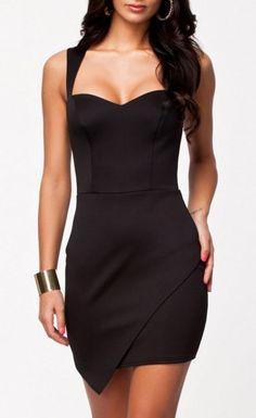 $25.99 Wrap Front Hem Bodycon Dress