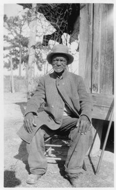 """Wes Brady, ex-slave, Marshall, Texas. """"Portraits of African American ex-slaves from the U.S. Works Progress Administration, Federal Writers' Project slave narratives collections"""";  Prints & Photographs Division, Library of Congress, Washington, D.C. (http://www.loc.gov/pictures/item/99615249/ : accessed 1 Oct 2014)."""
