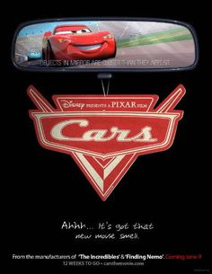 High resolution official theatrical movie poster ( of for Cars Image dimensions: 1275 x Starring Owen Wilson, Paul Newman, Bonnie Hunt, Larry the Cable Guy Pixar Movies, Hd Movies, Disney Movies, Cartoon Movies, Disney Pixar, Bonnie Hunt, Cars 2006, Animated Movie Posters, The Cable Guy