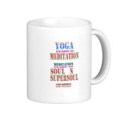 YOGA n MEDITATION script KRISHNA PATANJALI GIFTS Mugs #zazzle #mugs #yoga #krishna