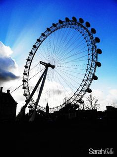 'london eye' photograph placed on canvas. #london #canvas