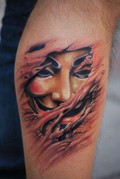 58 fotos de Tatuagens de V de Vingança