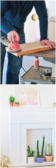 This DIY faux fireplace makes a great place to display art, holiday decorations or potted plants. Take it with you when you move! See the step-by-step tutorial on The Home Depot Blog.
