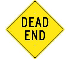 """Dead End, National Marker TM210K, 24""""x24"""", Black On Yellow, 85 Percent Recycled .080"""" High Intensity Reflective Aluminum Surface and Roadway Warning Sign With 2 Holes For Post Mounting - Each"""