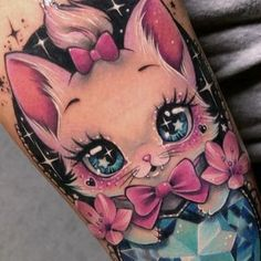 Tattoos With Kids Names, Kid Names, Laura Anunnaki, Candy Tattoo, Bright Tattoos, Fusion Ink, Rainbow Brite, Tattoo Inspiration, Body Art