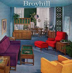 Colorful Broyhill Premier Furniture 1959