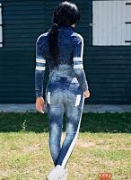 Jeansi de dama, marca FOGGI cu design sic si tineresc