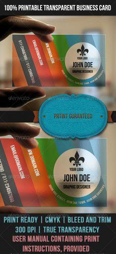Transparent colorful business card http://www.bce-online.com/en
